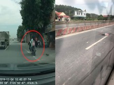 """Video: Xe máy """"phóng bạt mạng"""", va chạm với ô tô tải, nữ sinh tử vong tại Thanh Hóa"""