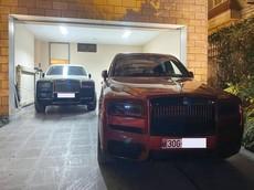 Hai chiếc Rolls-Royce Cullinan xuất hiện trong một garage tại Hà Nội khiến cư dân mạng trầm trồ