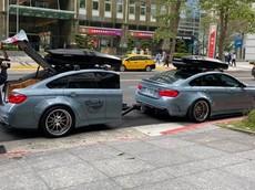 """Xôn xao với video chiếc BMW 4 Series kéo theo nửa """"bản sao"""" di chuyển trên đường phố"""