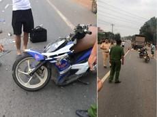 Bình Phước: Xe máy tông vào đuôi ô tô tải, 2 người đàn ông thương vong