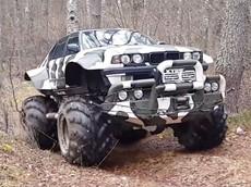 Chiếc xe tải quái vật BMW 7-Series của người Nga này là phương tiện off-road tối thượng