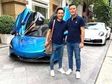 """Cường """"Đô-la"""" cùng đồng đội lái siêu xe lên Sapa, ấn tượng nhất là Lamborghini Aventador mui trần"""
