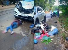 Tuyên Quang: Ô tô chạy lấn làn để vượt, tông trực diện xe máy khiến 2 người thương vong