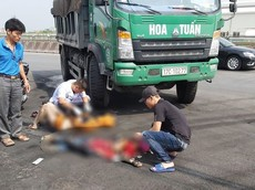 Ninh Bình: Va chạm với xe ben, hai mẹ con đi xe máy thương vong