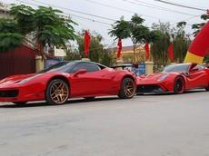 Video: Cặp đôi Ferrari độ độc nhất Việt Nam đuổi bắt nhau trên đường làng ở Hải Dương