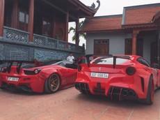 Cặp đôi Ferrari độ độc nhất Việt Nam bất ngờ xuất hiện tại làng quê tỉnh Hải Dương