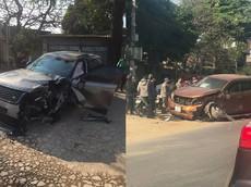 Hà Nội: SUV sang Range Rover Velar gây tai nạn liên hoàn cho 4 phương tiện khiến 2 người bị thương