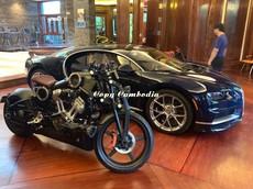 Siêu mô tô Curtiss Warhawk hơn 2,4 tỷ đồng của chủ xe Bugatti Chiron tại Campuchia