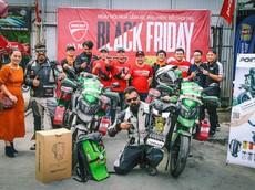 Cộng đồng chơi xe mô tô Hà Nội giao lưu với biker Ấn Độ đang trên đường đi vòng quanh thế giới