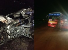 Bắc Giang: Xe con Hyundai Accent đấu đầu ô tô chở công nhân, tài xế tử vong trong cabin