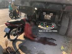 Bình Dương: Tông vào đuôi xe ben, thanh niên tử vong trên yên xe máy