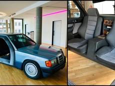 Ngắm chiếc Mercedes-Benz 190 cổ điển được chuyển đổi thành phòng họp độc nhất quả đất