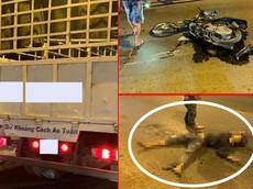Hóc Môn: Va chạm với xe tải, nam thanh niên chạy xe máy tử vong tại chỗ