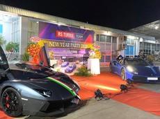 Dàn siêu xe tham dự tiệc tất niên của nhóm chơi xe ở Bình Phước