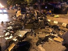 """Hình ảnh chiếc Honda Civic """"nát như tương"""" mà tài xế chỉ bị thương nhẹ khiến cư dân mạng không dám tin"""