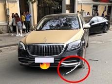 Hà Nội: Honda Lead va chạm với xe siêu sang Mercedes-Maybach S-Class