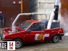 Chứng kiến người Nga thử nghiệm biến đổi động cơ đốt trong thành... động cơ hơi nước
