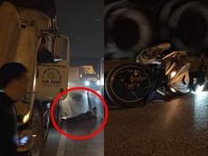 Tông vào xe container đang đỗ ở QL5A, người phụ nữ chạy Yamaha Exciter 150 tử vong tại chỗ
