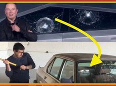 Cửa sổ xe BMW cứng đến mức vung rìu không vỡ, trái ngược cửa sổ xe Tesla Cybertruck