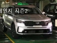 Kia Sorento 2020 tiếp tục lộ diện trong hầm đỗ xe, ra mắt vào tháng sau