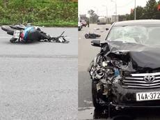 Quảng Ninh: Điều khiển xe máy va chạm trực diện với Toyota Camry, thanh niên tử vong
