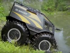 Cận cảnh Sherp ATV - Xe địa hình đi cả mặt đường lẫn mặt nước với giá 100.000 USD