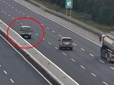 Ngang nhiên ngược chiều cao tốc Hà Nội - Hải Phòng, một tài xế sẽ có thể bị phạt gần 20 triệu đồng
