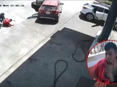 Video: Công an mật phục quật ngã 2 kẻ cướp đi Vinfast Fadil tại cây xăng Lâm Đồng