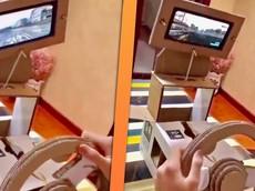 Bái phục game thủ tự chế hệ thống đua xe mô phỏng rẻ tiền chỉ bằng bìa cứng và smartphone