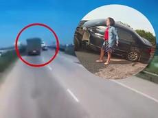 Video: Xe tải chuyển làn ẩu gây tai nạn với ô tô do nữ lái trên cầu Phú Lương