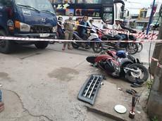 Bình Dương: Dừng đèn đỏ, người đàn ông đi xe máy bị ô tô tải tông tử vong