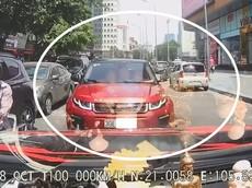 Video: Nữ lái Range Rover Evoque chạy ngược chiều gây tắc đường còn đòi ô tô đi đúng chiều tránh đường