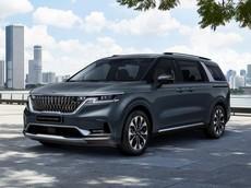 """Kia Sedona 2021 """"hiện nguyên hình"""" với thiết kế táo bạo và giống Range Rover"""