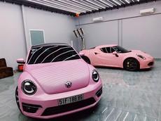 Giới nhà giàu mê mẩn với xu thế dán decal xe màu hồng