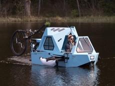 Zeltini Z-Triton - Chiếc xe đạp điện ba bánh lai tạo thuyền/nhà ở di động giá gần 200 triệu đồng