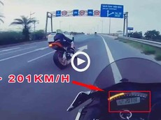 Hốt hoảng với cảnh xe mô tô phân khối lớn chạy 201 km/h trên đường đi sân bay Nội Bài