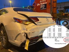 Chi phí sửa chữa chiếc Mercedes-Benz S400 Coupe gặp nạn ở Sài Gòn lên đến hơn 250 triệu đồng