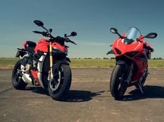 """Siêu mô tô đọ sức: Ducati Panigale V4 R """"đấu"""" Ducati Streetfighter V4 S và đây là kết quả"""