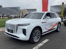 Hồng Kỳ E-HS9 - SUV điện cực sang ra mắt công chúng, lăn bánh giữa ban ngày
