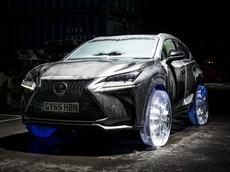Nhìn lại quá khứ: Chiếc Lexus NX 2015 với bánh xe bằng băng độc nhất thế giới
