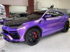 Lamborghini Urus thay áo nhiều nhất Việt Nam được người yêu xe Bạc Liêu đổi sang màu tím
