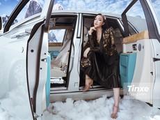 """""""Công chúa hàng hiệu"""" Thu Trà bên hai siêu phẩm Rolls-Royce Phantom Hadar và Aston Martin Rapide S"""