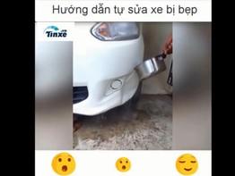 Cách sửa xe mới bằng nước sôi