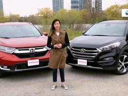 """So sánh Honda CR-V 2017 và Hyundai Tucson 2017: Đại diện Hàn """"có cửa"""" để lật đổ xe Nhật?"""