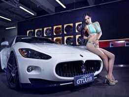 """Đã mắt với bộ ảnh Maserati GranTurismo S độ bên người mẫu """"ngực đầy"""" gợi cảm"""