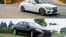 Chọn mua Toyota Camry 2.5Q 2019, hay đầu tư thêm để mua Mercedes-Benz C200?