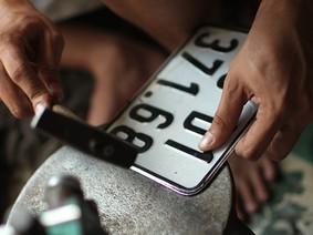 Mức phạt lên đến 1 triệu đồng đối với biển số ôtô bị mờ