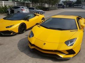 Cặp đôi siêu xe Lamborghini độc nhất Việt Nam tái xuất trên phố
