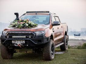 Hà Nội: Cực chất với đám cưới 50 xe bán tải và offroad đầy bùn đất ngày đón dâu