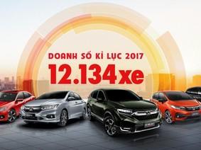Honda Việt Nam bán ra 12.134 xe ô tô trong năm 2017